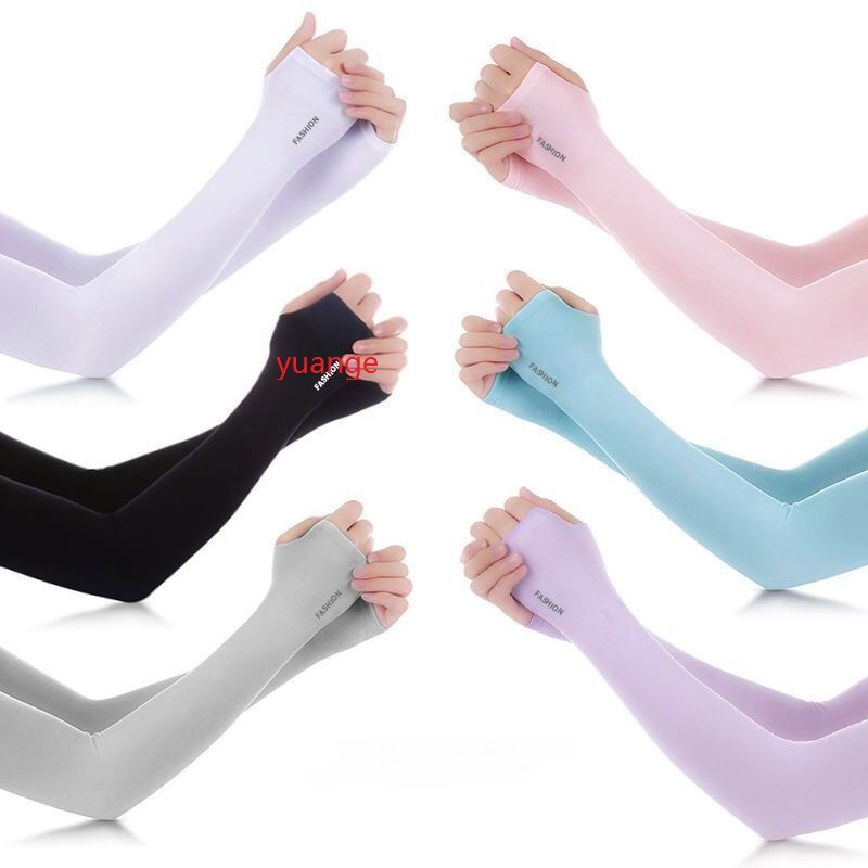 1 Pair Men Women Arm Sleeves Summer Sun UV Protection Ice Cool Cycling Running Climbing Fishing Driving Arm Cover Warmers