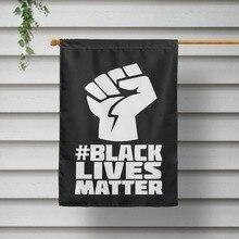 I Can't Breathe Black Lives Matter Parade Holding Flag 40x60cm Courtyard Hanging Flag недорого