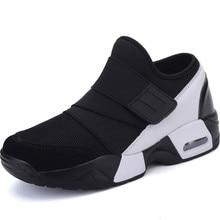 цена Air Cushion Women's Sport Shoes Black Women's Sneakers Men Sports Shoes Women Running Shoes Woman Slipony Gym  A103 онлайн в 2017 году