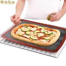 Onuobao Macaron Silicone Baking Mat Oven Pad Household Cookie Bean Puffs Black Rectangular Non Stick Baking Pan Oven Non Stick