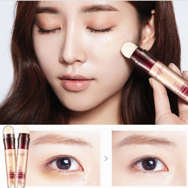 1Pc New Dark Circle Eraser Concealer Pen Under Eye Concealer Highlighter Cover up Acne Scars Fine Lines Lip Primer Face Makeup image