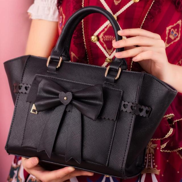 Фото милая сумка в стиле лолиты с милым бантом женская kawaii повседневная