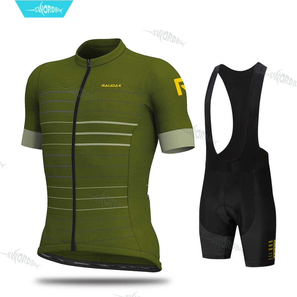 Pria Bersepeda Kaus Set 2019 Aleing Pro Tim Bersepeda Pakaian MTB Bersepeda Bib Celana Pendek Sepeda Jersey Kit Triathlon Ropa ciclismo