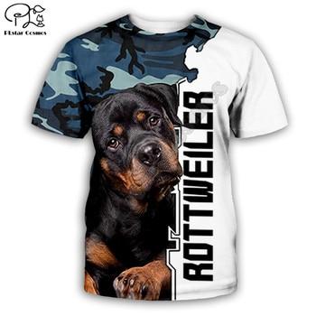 Funny Rottweiler dog 3D full printing fashion t shirt Unisex hip hop style tshirt streetwear casual summer tops
