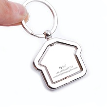 Cute Rotating toy Personalized house keychain custom free with any logo text best Valentines Day gift for girlfriend