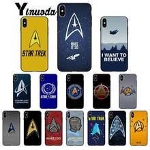 Yinuoda star trek logo Soft Silicone black Phone Case for iPhone 6S 6plus 7 7plus 8 8Plus X Xs MAX 5 5S XR(China)