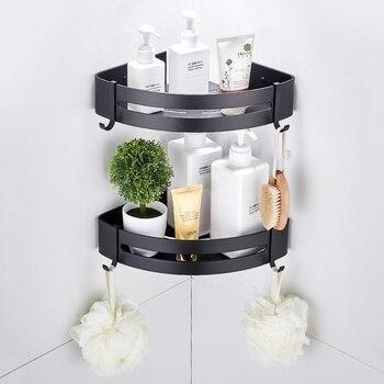 Bathroom Corner Shelves Shower Shelf Bath Shampoo Storage Rack Wall Mounted Aluminum Bathroom Basket Holder Kitchen Accessories 1
