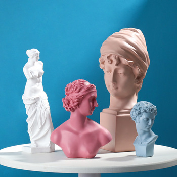 David Head Portraits Bust Venus Mini Gypsum Statue European imitated plaster resin Michelangelo Sculpture Home Decoration 1