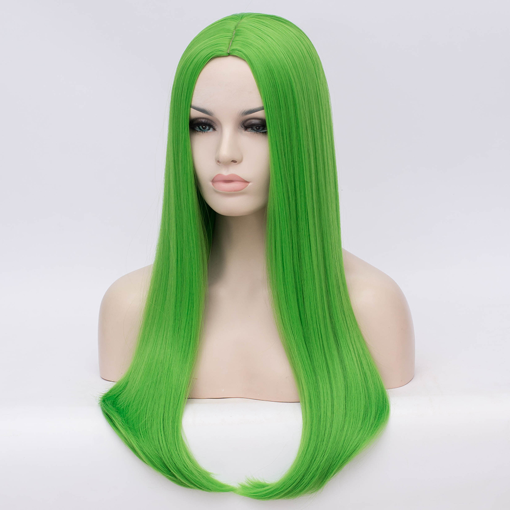 Image 5 - MSIWIGS Wavy Synthetic Wigs for White Black Women Long Green Wig Cosplay Heat Resistant Rose Net Natural Hair with Bangs-in Synthetic None-Lace  Wigs from Hair Extensions & Wigs