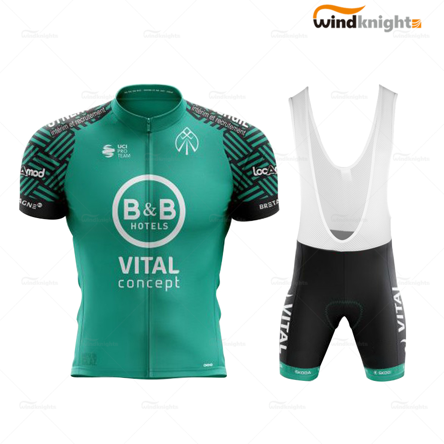VITAL team cycling jersey set ropa de bicis men's 2020 summer <font><b>Short</b></font> Sleeve bike clothes maillot <font><b>velo</b></font> homme Breathable Quick-Dry image
