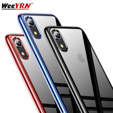 3D Plating Ttansparent Phone Case For iPhone XR XS MAX 7 8 6 6s Plus Cover For iPhone11 11 Pro MAX Luxury Clear Silicone Case iphone case for iphone x xs xr xs max 8 7 6 6s plus iphone11 iphone11 pro iphone 11 pro max luxury square soft leather kickstand