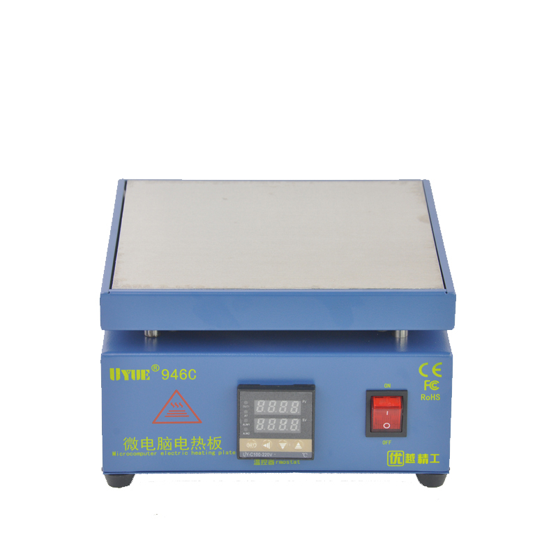 UYUE946C Electronic Hot Plate Preheat LCD Digital Display Preheating Station for PCB SMD heating phone LCD touch screen separate