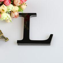 30CM 3D Mirror Wall Stickers Letter Craft English Wedding letters Name customization Alphabet Decor Red/Black/Gold/Silver F808(China)