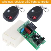 Receiver + 2Transmitter AC 220V 1CH RF Wireless Remote Switch  For Light Switch and Electrical Equipment New стоимость