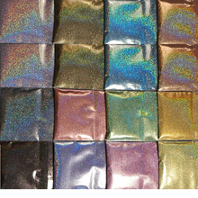 Extra Fine 1/128  5g Holographic Rainbow linear Glitter Powder Dazzling Silver/Pink/Gold Nail Holo Cosmetic Grade Glitter 0.2mm