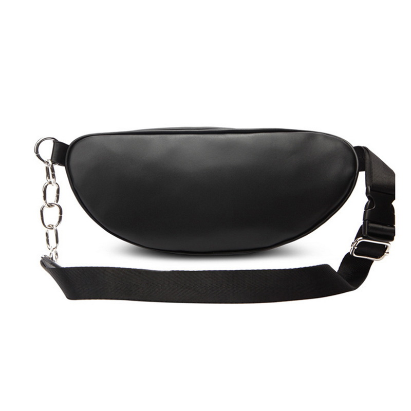 Fashion Pu Leather Zip Pouch Women Waist Bag Fashion Belt Chest Bag Travel Money Phone Bags For Ladies Female Luxury Funny Pack