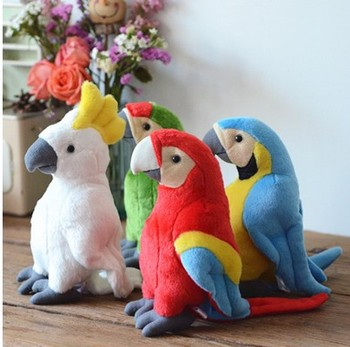 28cm cute parrot plush toy stuffed doll bird children baby birthday christmas gift 28cm Cute  Parrot Plush Toy Stuffed Doll Bird Children baby Birthday christmas gift