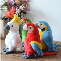 28cm Cute Parrot Plush Toy Stuffed Doll Bird Children baby Birthday christmas gift
