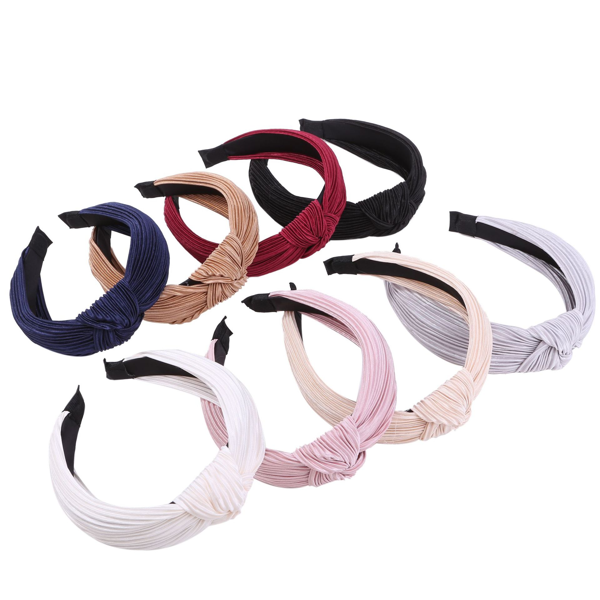 Pleated Fabric Knot Hairband Knotted  Headband Customized Hair Accessories