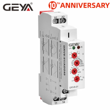 Free Shipping GEYA GRV8-01 Single Phase Voltage Relay Adjustable Over or Under Voltage Protection Monitor Relay with LED display free shipping geya grv8 01 adjustable over voltage or under voltage relay 12v 48v 110v 220v 240v voltage control relay