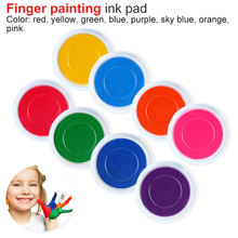 Funny 6 Colors Ink Pad Stamp DIY Finger Painting Craft Cardmaking For Kids  Drawing baby toys 0-12 months Toy