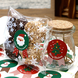 80 sztuk seria bożonarodzeniowa naklejki uszczelniające Papeleria okrągła przypinka DIY prezenty Kawaii biurowe pakiet do pieczenia wystrój naklejki etykiety