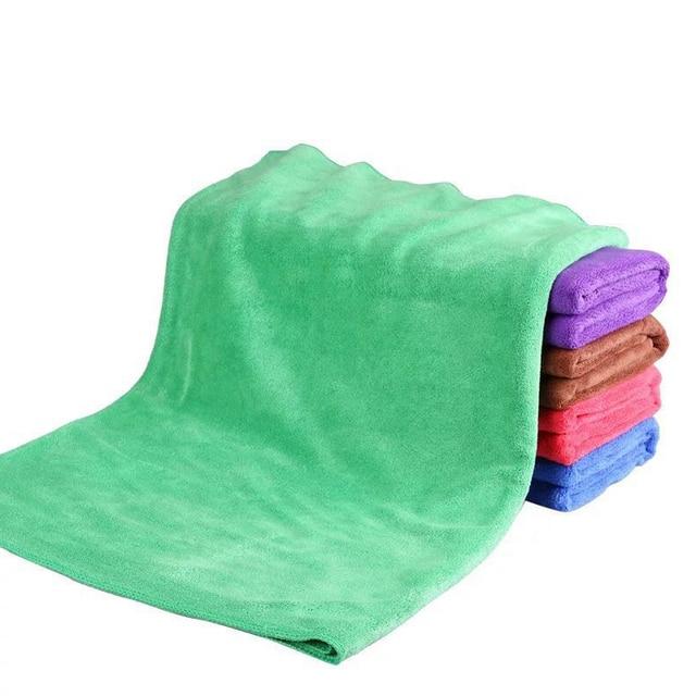 160*60cm 1pcs Car Wash Towel Car Microfiber Towel Hemming Car Care Detailing Wash Cleaning Drying Cloth