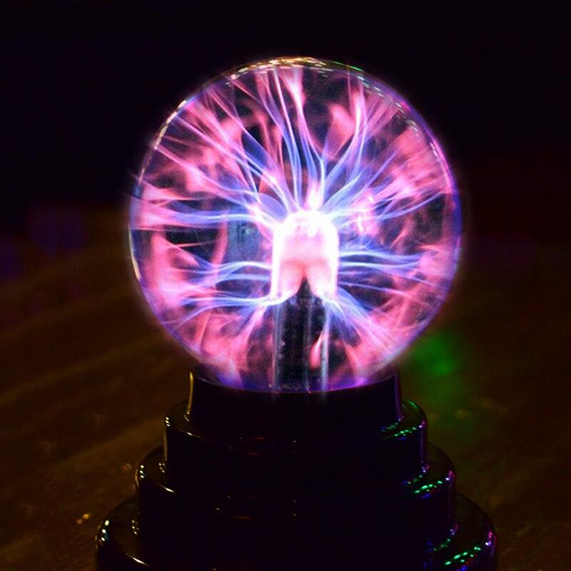 3-inch USB Lightning Electrostatic Ion Magical Crystal Ball Lamp Bedroom Decoration Magic Lightning Ball Light