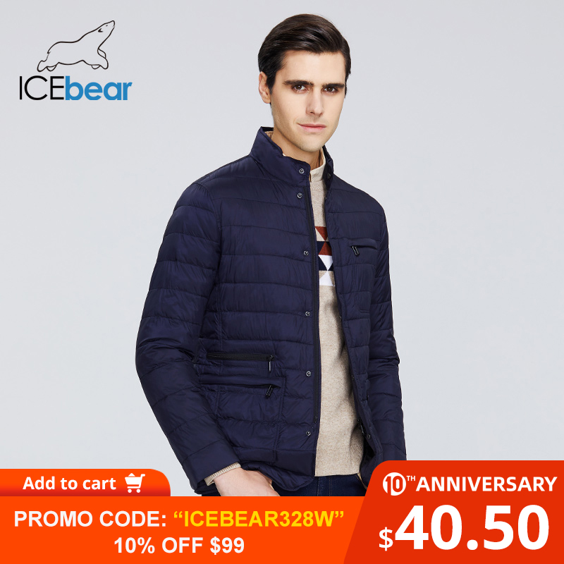 ICEbear 2020 New Men's Jacket Spring Windproof Thin Cotton Men's Jacket Fashion Casual Cropped Jacket Brand Men Jacket MWC20245D