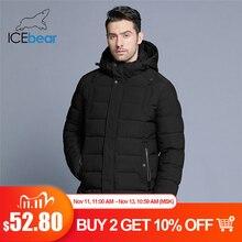 ICEbear 2019 nowa męska kurtka zimowa ciepły z odpinanym kapturem mężczyzna krótki płaszcz moda odzież codzienna człowiek odzież marki MWD18813D