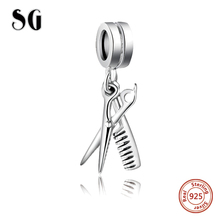 Beads charms Fit Pandora Authentic 100% 925 sterling silver original S925 mark Crystal love Clovers Flower Pendant for Bracelet