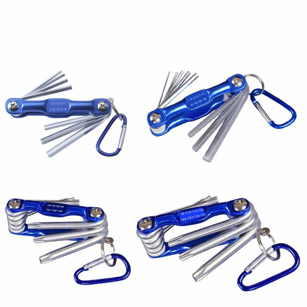 Inviolável Estrela Ameixa Ameixa Hexagonal Hex Chave Definida Metric Folding Hex Wrench