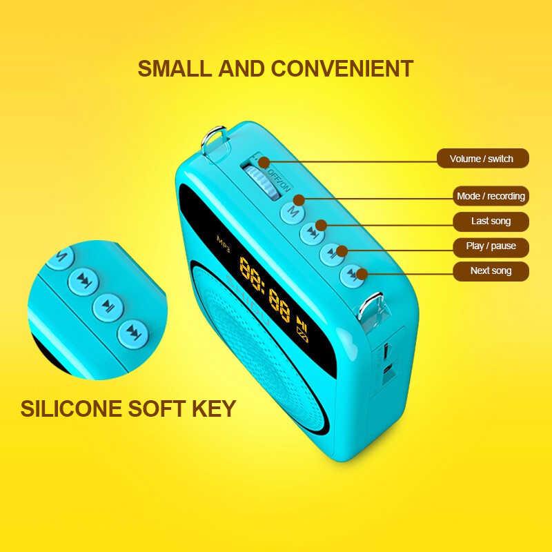 Bluetooth 音声アンプ 15 ワットポータブルミニ有線マイク音楽プレーヤー USB 電話 PC 教師のためのツアーガイドヨガ MP3 スピーカー