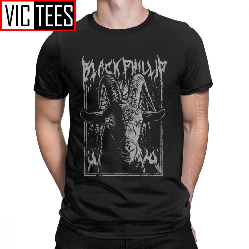 Black Metal Phillip T-Shirt For Men The Witch Satanic Goat Horror Casual 100 Percent Cotton T Shirt Clothes