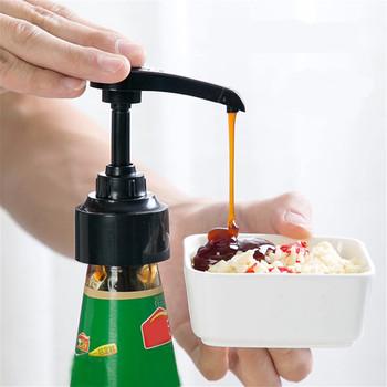 Butelka syropu dysza ciśnieniowa dozownik do oliwy gospodarstwo domowe pompa Push-type prasa ręczna pompa z tworzywa sztucznego akcesoria i materiały kuchenne #2021 tanie i dobre opinie CN (pochodzenie)