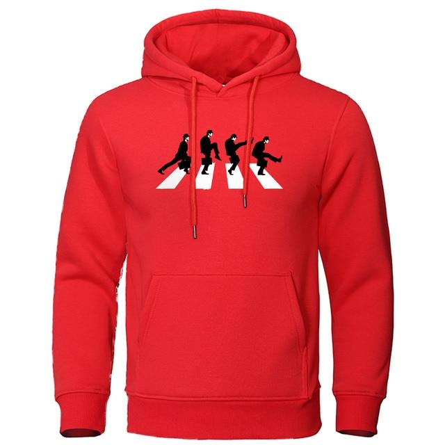 Autumn Fleece Warm Men Hoodies Monty Python The Ministry of Silly Walks Sweatshirts Hip Hop Funny Mens Harajuku Streetwear Hoody