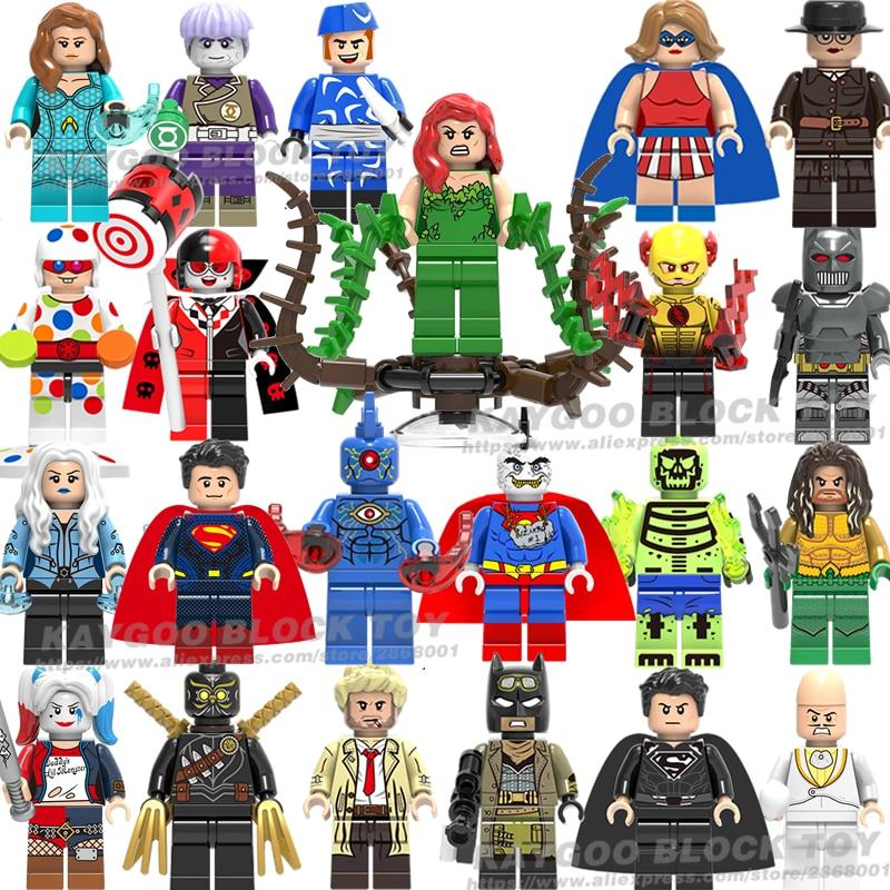 Dc スーパーヒーローバットマン映画のフィギュアジョーカーロビンスーパーマンワンダーウーマンアクアマンハーレークインのビルディングブロックのおもちゃ子供