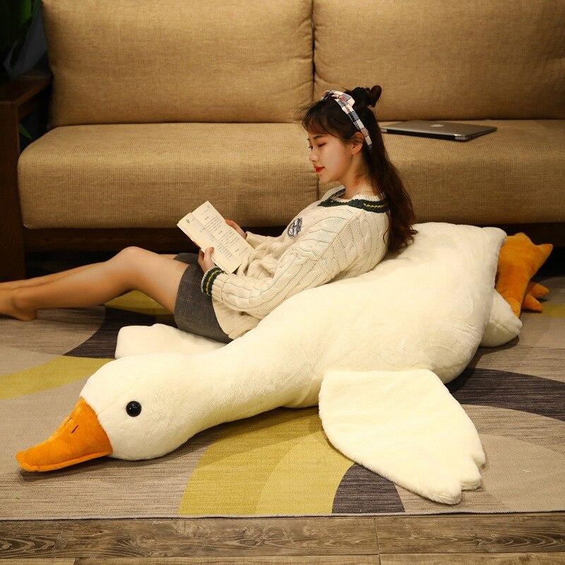 130 см имитация больших крыльев утки плюшевая Длинная Подушка игрушка мягкая набивная гигантская птица для объятий кукла из дикой гусины для...