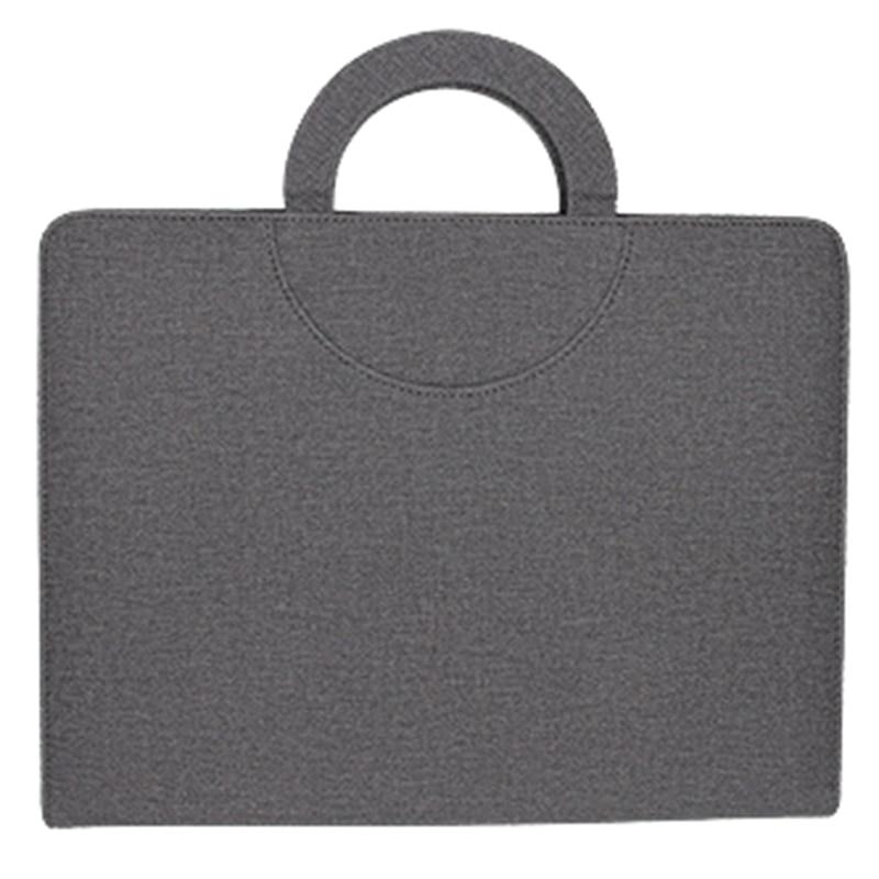 Multifunctional Zipper Business Messenger Bag A4 File Folder Organizer With Ipad Stand USB Rigid Disk Fastener