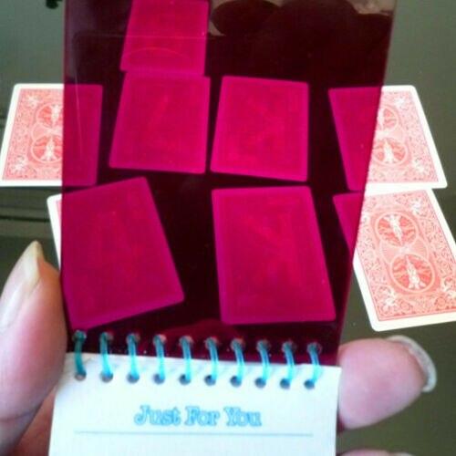 Mental Pad (carte rouge Deck + recharges) mentalisme tours de magie Illusions amusement gros plan magie prédiction carte choisie Gimmick magicien