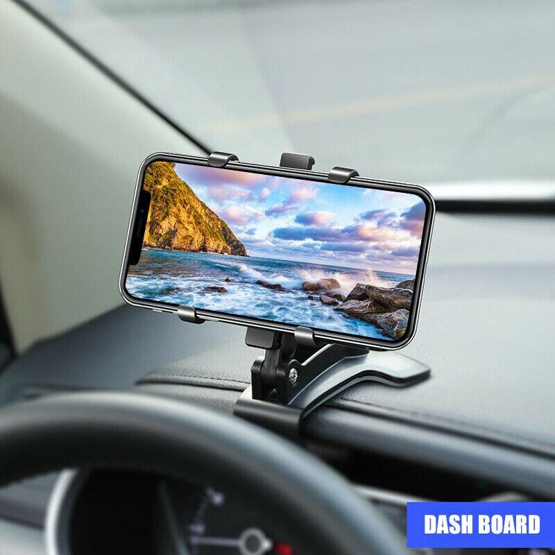 Приборная панель автомобильный держатель телефона в автомобиль гибкий зажим двойной 360 Градусов Подставка Кронштейн Поддержка для Xiaomi Iphone ...