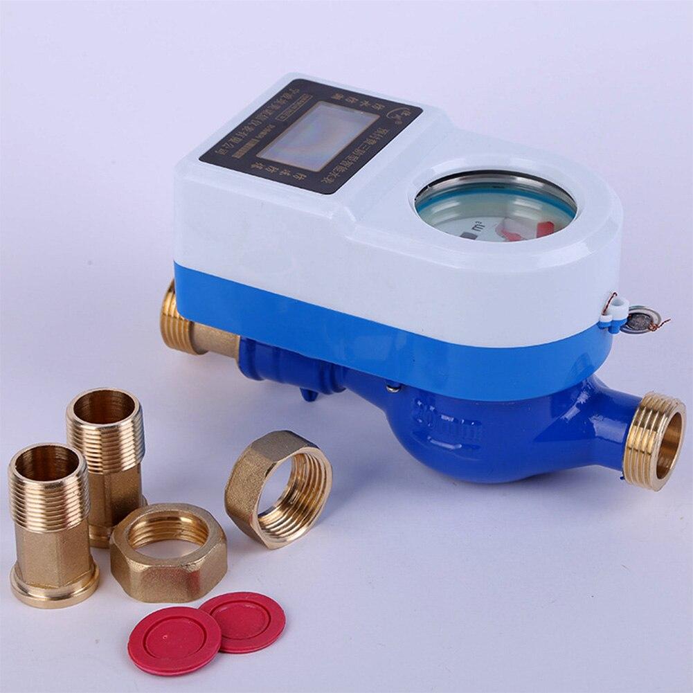 15mm Table Swiping carte étanche maison sans fil intelligent rotatif LCD affichage compteur d'eau froide robinet cuivre outils compteur mesure