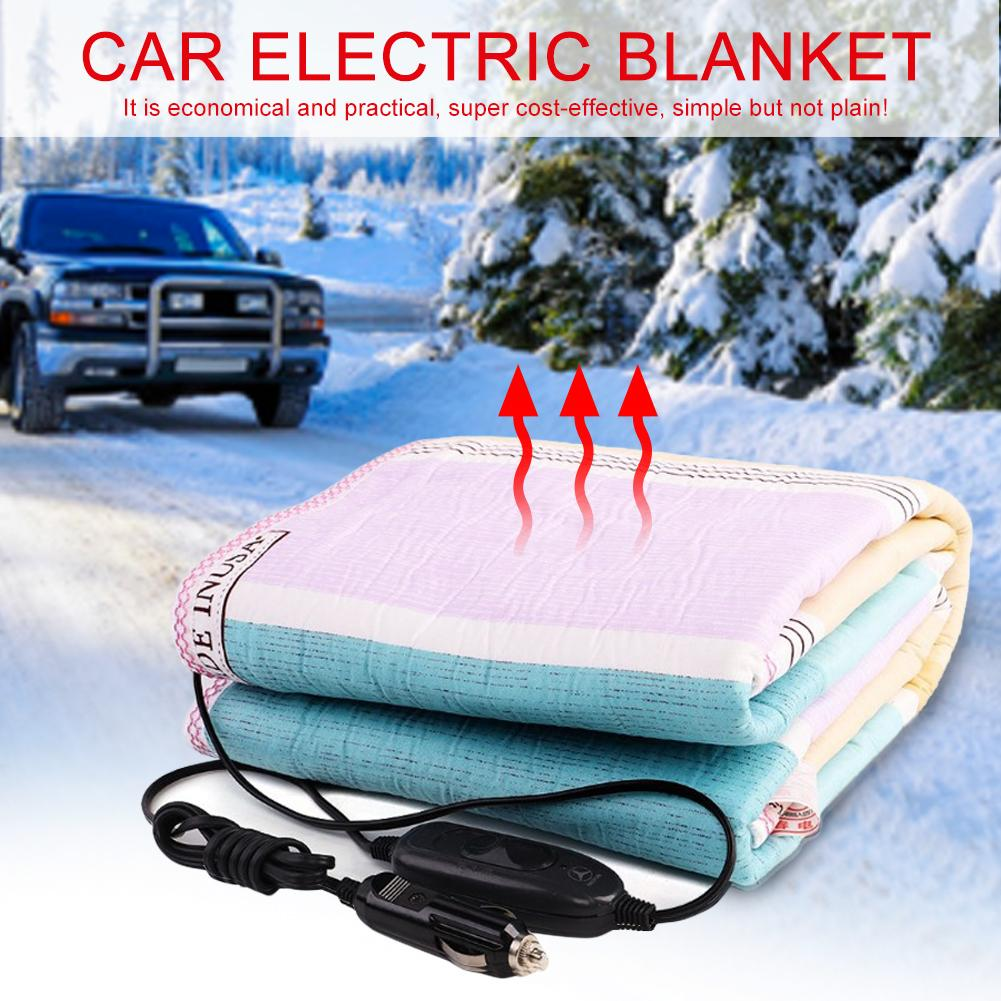 150*70cm 12v/24v Print Car Heating Blanket Energy Saving Warm Autumn And Winter Car Electric Blanket Random Color Delivery