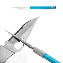 New 3 in1 Outdoor Hunting Fishing Pocket Sharpener Diamond Knife Saw Hook Flat Edges(China)