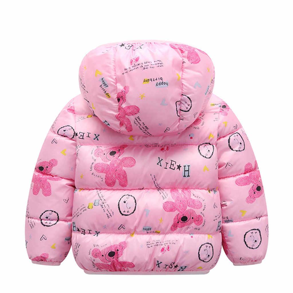 Herbst Winter Kleinkind Baby Mädchen Jacken Mode Baumwolle Thick Windbreaker Mäntel Baby Mädchen Casual Warme Outwear Kinder Mit Kapuze