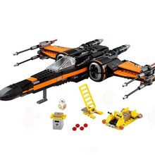 742pcs New Space Wars Poe's X-Wing Fighter 10466 Figure Building Blocks Poe Dameron Boy Children Toys Compatible legoingly gift(China)