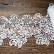 30 cm Width Embroidered fish line Lace Trim for Wedding Dress Making Clothes Accessories Lace Trimmings Dress Sewing Lace Fabric lace trim insert metallic dress