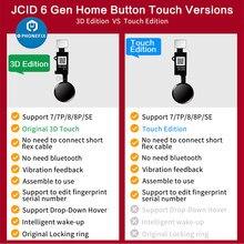 Jc 6th 3d universal botão de toque casa jc impressão digital cabo flexível para iphone 7 7 p 8 p menu teclado retorno em fora da solução função