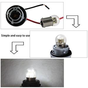 Image 4 - 6X led רכב אורות S25 p21w 1156 BA15S 1157 BAY15D BA15D 1W זכוכית כוס Canbus Dc 6 12 24 36 48 V וולט הנורה אוטומטי הפעל אות אור