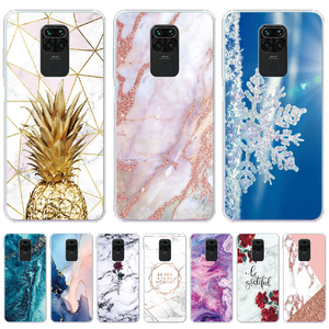 For Redmi Note 9 Case Soft TPU Marble Flower Silicone Cover Phone Cases For Xiaomi Redmi Note 9 Note9 Note 9 Pro Max 9Pro Coque